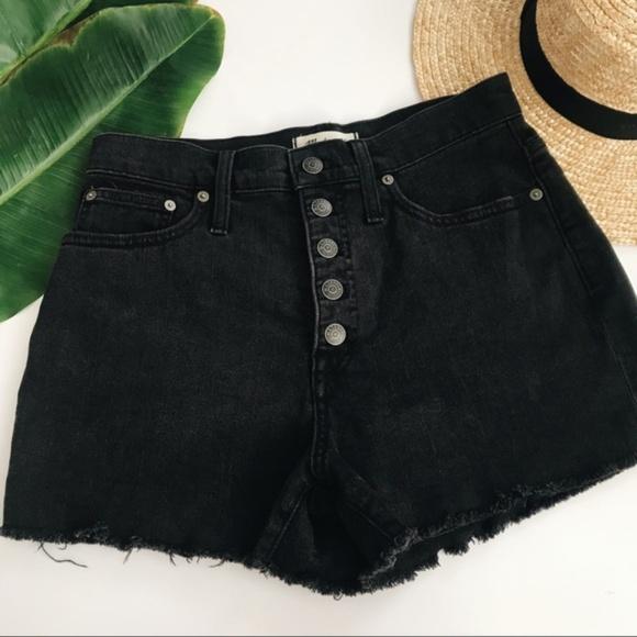 7e640efd99 Madewell Pants - Madewell Berkeley Black Button Fly Denim Shorts